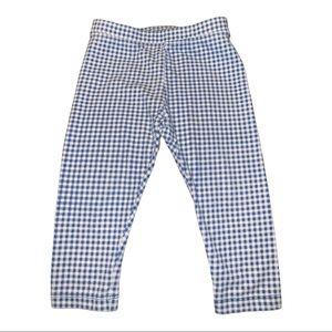 Gymboree Baby Blue Gingham Pattern Leggings